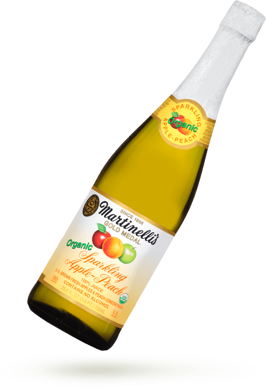 Organic Sparkling Apple-Peach 25.4 fl. oz.