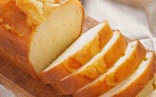 Pound Cake with Vanilla Ice Cream and Cider Sauce