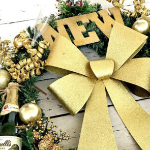 DIY New Year's Eve Wreath