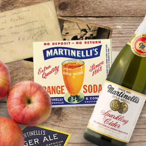 In 1900, Martinelli's product line included Sarsaparilla, Cream Soda, Ginger Ale, Lemon Soda, Raspberry Soda, Orange Champagne, and Gold Medal Cider.