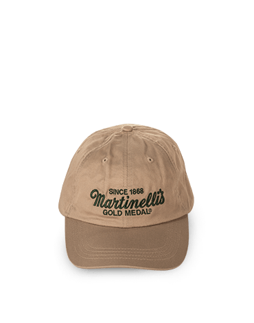 Khaki Hat with Green Writing