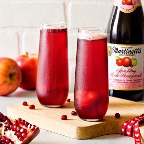 Sparklingly Delicious Apple-Pomegranate Sorbet Floats