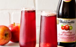 Sparklingly Delicious Apple-Pomegranate Sorbet Floats