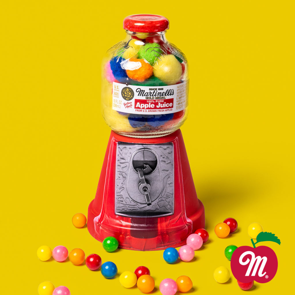 Martinelli's Apple Juice Gumball Machine Craft