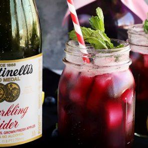 Berry Apple Cooler Mocktail