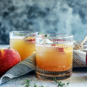 Grilled Peach Apple Smash
