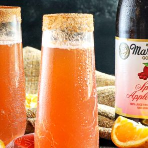 Sparkling Apple Cranberry Mimosa