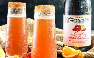 Sparkling Apple Cranberry Mimosa