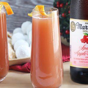 Sparkling Apple Cranberry Mimosa Mocktail