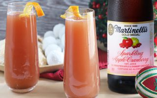 Sparkling Apple Cranberry Mimosa Mocktail
