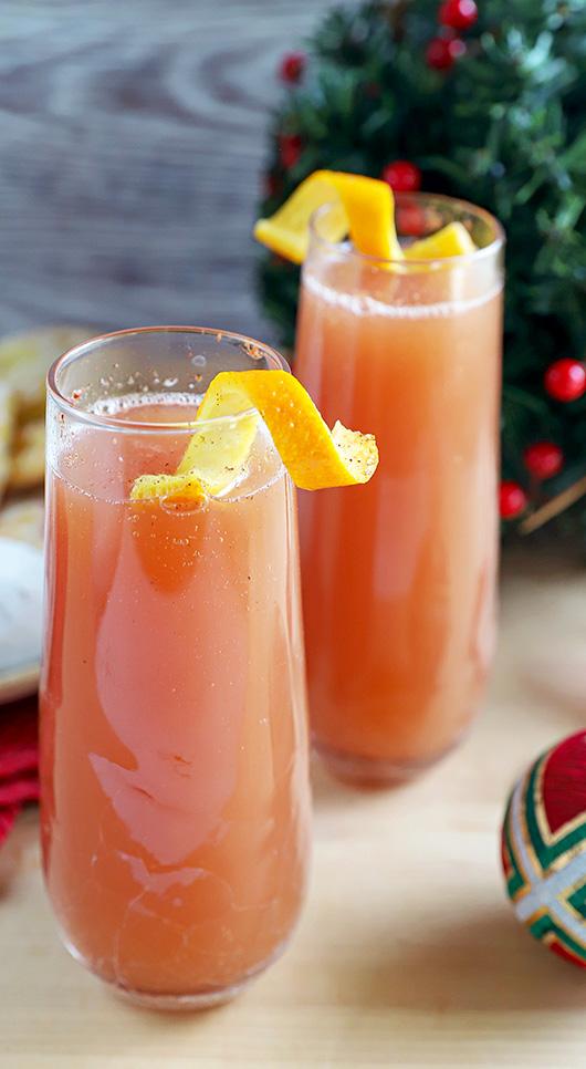 Cranberry Cider Mimosa