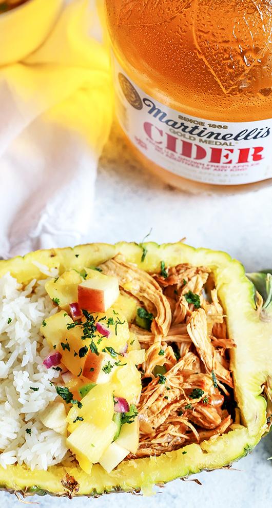 Instant Pot Hawaiian Apple Pulled Chicken