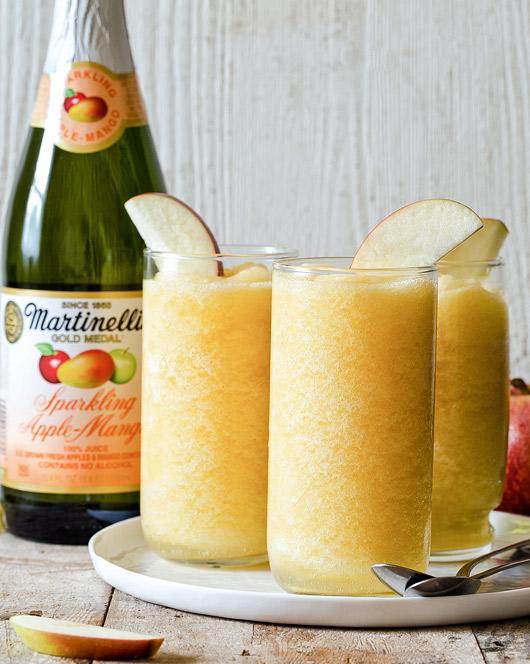 Sparkling Apple-Mango Slushies